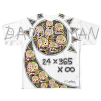 【24×365×∞】日月P-big Full graphic T-shirts