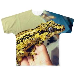 盛り盛りなガーゴイルゲッコー Full graphic T-shirts