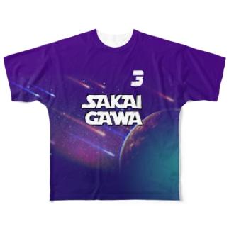 【販売済み】境川フリー/3番 Full graphic T-shirts