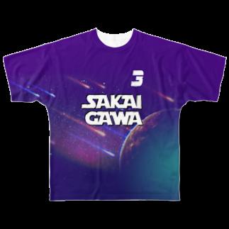 tottoの【販売済み】境川フリー/3番 Full graphic T-shirts