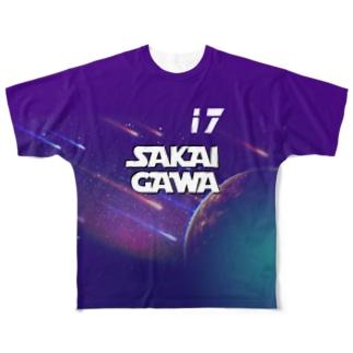 【販売済み】境川フリー/17番 Full graphic T-shirts