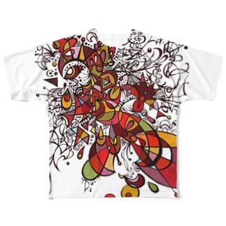 トリの細胞分裂 Full graphic T-shirts