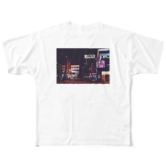 ネオン街 Full graphic T-shirts