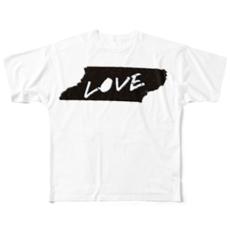 LOVE×マスキングテープ Full graphic T-shirts