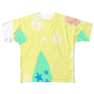 パステル雫 Full graphic T-shirts