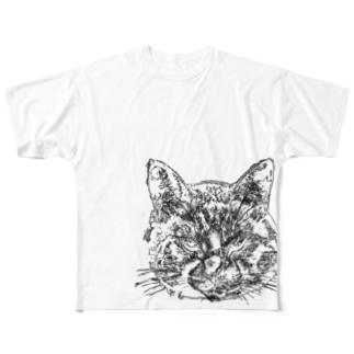 いかちー猫 Full graphic T-shirts