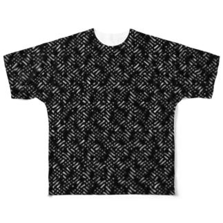網目模様 Full graphic T-shirts