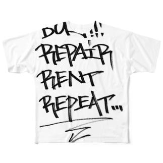 buy.repair.rent.repeat Full graphic T-shirts