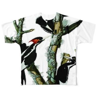 アメリカハシジロキツツキ Full graphic T-shirts