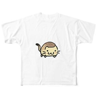 ネコぱん(メロンパン) Full graphic T-shirts