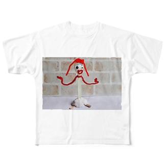 フォーキー風の人形 Full graphic T-shirts