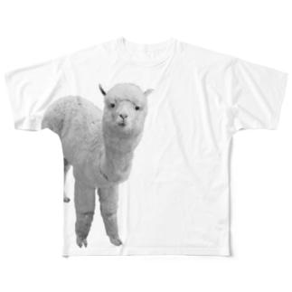 アルパカは見ている Full graphic T-shirts