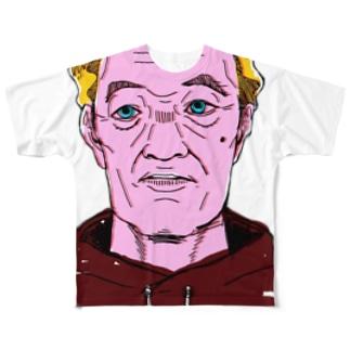 おじいさんおじさん Full graphic T-shirts
