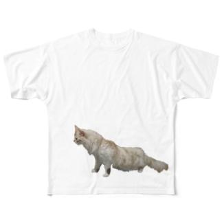 猫ぬ~ん Full graphic T-shirts