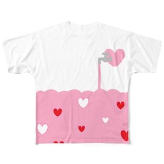愛が止まらない Full graphic T-shirts