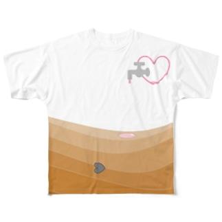 愛が足りなくて砂漠化 Full graphic T-shirts