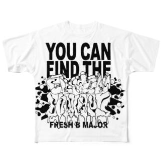 graffiti YCFTF Full graphic T-shirts
