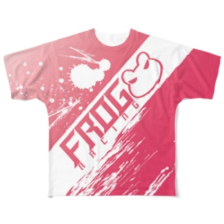 FROG RACING/PINK Full graphic T-shirts