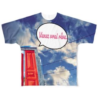 Ouvrez la porte. Full graphic T-shirts