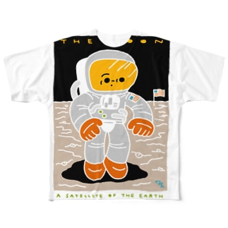 THE MOON Full graphic T-shirts