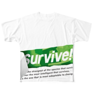 survive! 2nd Full graphic T-shirts