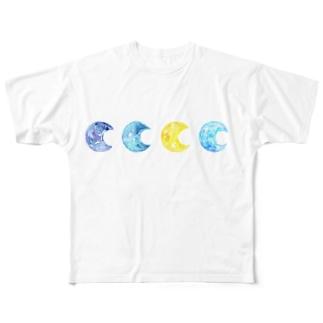 moonlight Full graphic T-shirts
