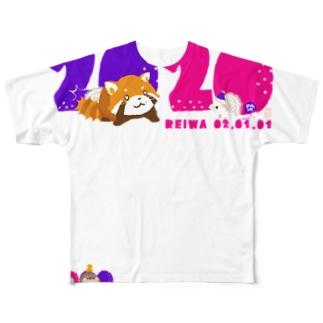 令和 子年 干支 2020 ハリネズミ年 Full graphic T-shirts