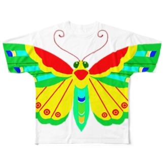 胡蝶 Full graphic T-shirts