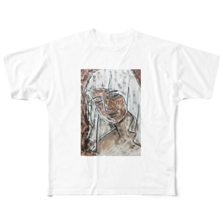 「不眠」 Full graphic T-shirts