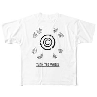 ろくろを回す Full graphic T-shirts