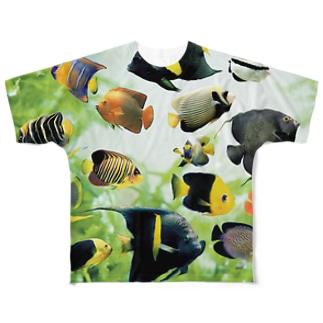 マリンエンゼルフィッシュ Full graphic T-shirts