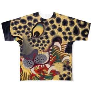 歌川広景 Full graphic T-shirts