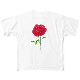 バラ Full graphic T-shirts