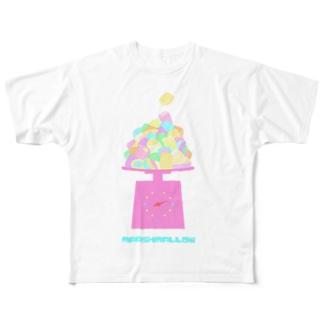 マシュマロ量り売り Full graphic T-shirts