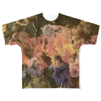 Rose andGold onBlack Full graphic T-shirts