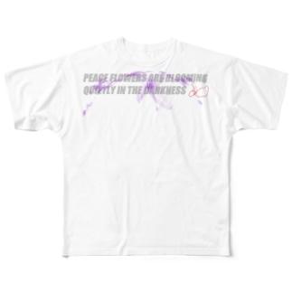 Orychophragmus violaceus Full graphic T-shirts