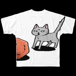 わの屋のねこと梅干し Full graphic T-shirts