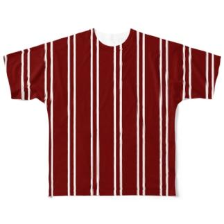 Likely Lads & Co.のレトロなストライプ Full graphic T-shirts
