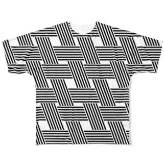 チェックなバイアス Full graphic T-shirts