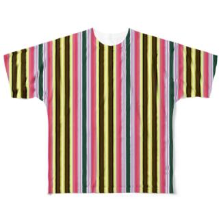 モッズなストライプ Full graphic T-shirts