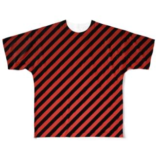 ちょっとグラデーションなバイアス Full graphic T-shirts