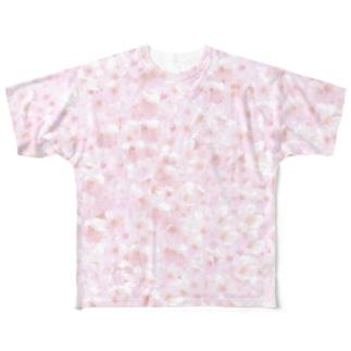 桜満開 Full graphic T-shirts