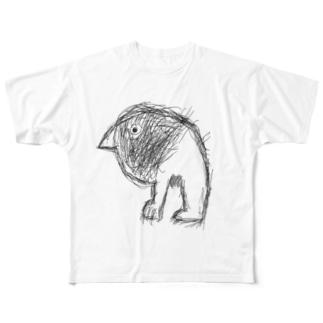 雛モゲラ  Full graphic T-shirts