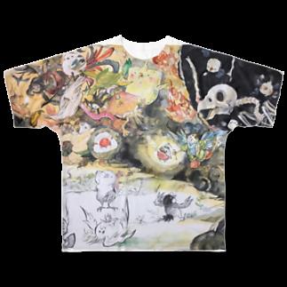 にしごりみずほの鳥鳥百鬼夜行 Full graphic T-shirts