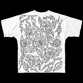 RainofglassのRoses Full graphic T-shirts