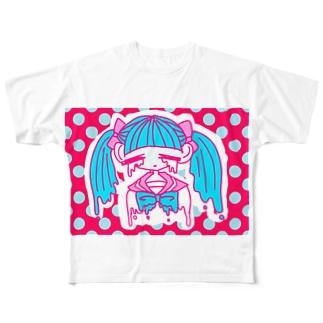 ぴえんちゃん Full graphic T-shirts