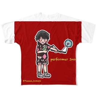 大道芸人Ino イラストver. Full graphic T-shirts