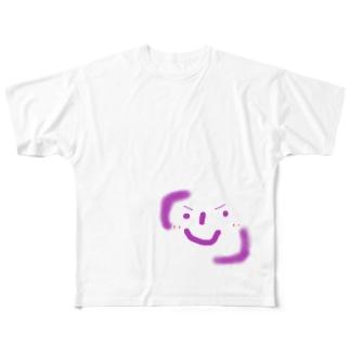 かぎかっこにこにこ君 Full graphic T-shirts