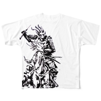 騎乗のサムライ① Full graphic T-shirts