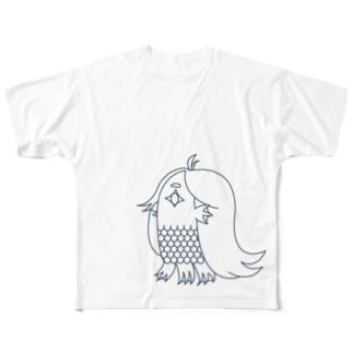アマビエ(MONO) Full graphic T-shirts
